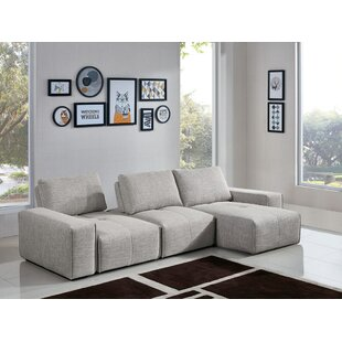 Jazz 3-Seater Reversible Chaise Sectional by Diamond Sofa New Design