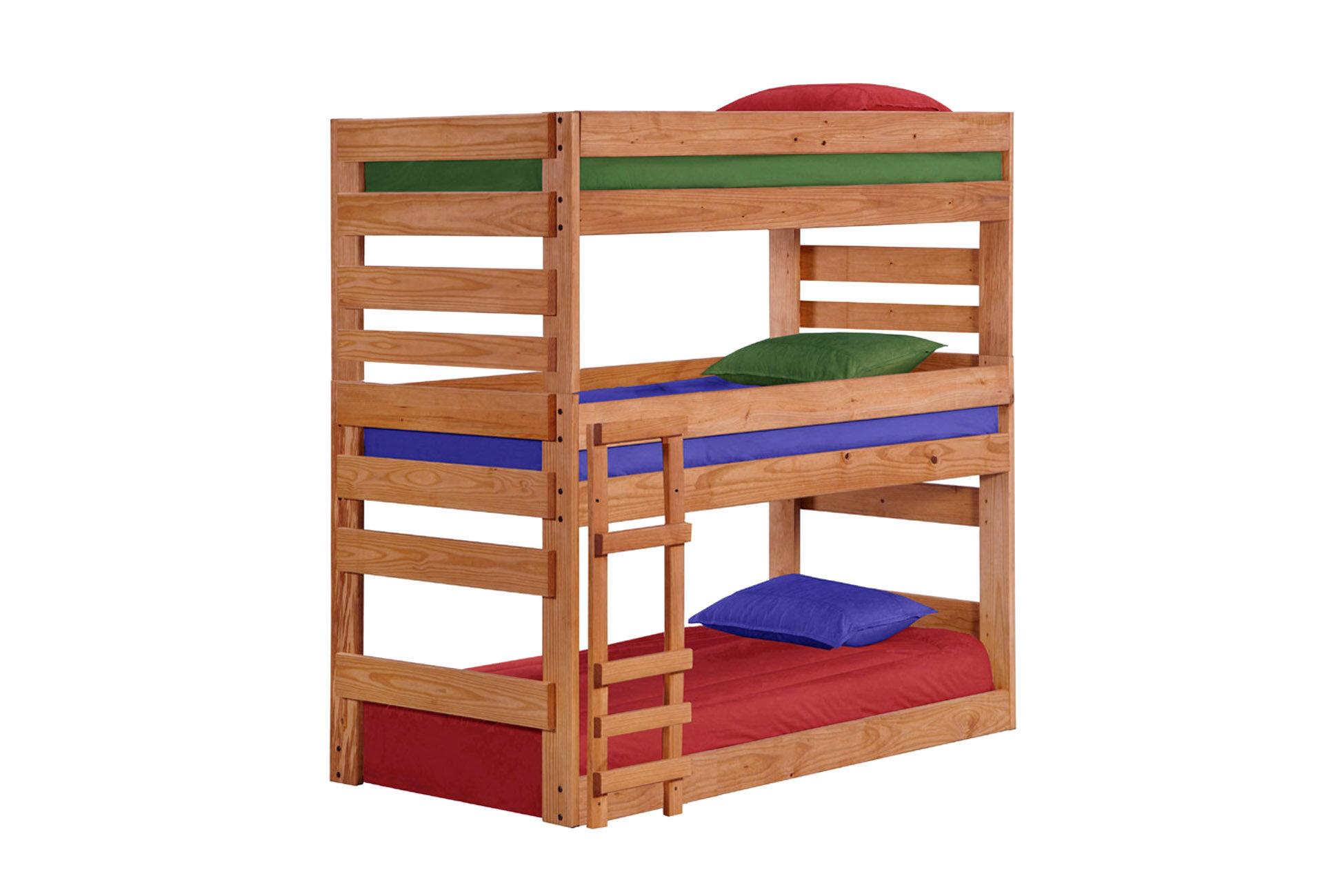 Harriet Bee Dabney Stackable Triple Bunk Bed Wayfair
