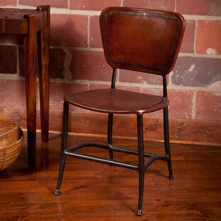 Caudill Genuine Leather Upholstered Dining Chair