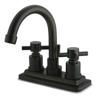 Online Reviews Concord Centerset Bathroom Faucet with Brass Pop-Up Drain By Kingston Brass