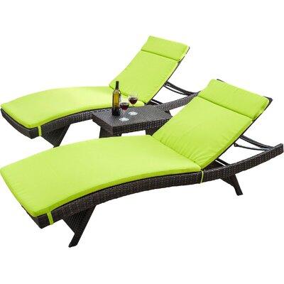 Ardoin Chaise Lounger Set with Cushion by Brayden Studio