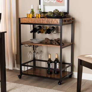 Masuda Mobile Metal Bar Cart