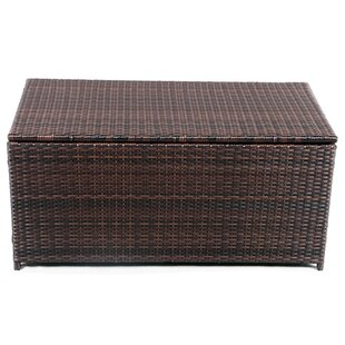 Reviews Clitheroe Wicker Weatherproof Outdoor Rattan Storage Box By Darby Home Co