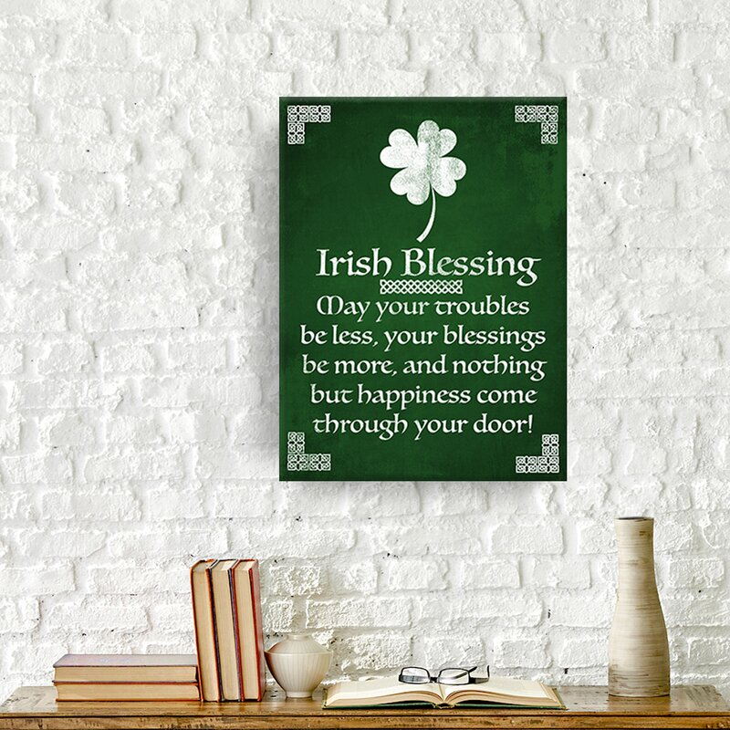 Irish Blessing by Tristan Scott - Print on Canvas