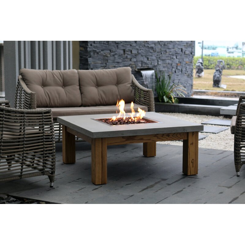 Elementi Amish Wood Natural Gas Propane Fire Pit Table Wayfair