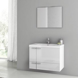 New Space 32 Single Bathroom Vanity Set with Mirror by ACF Bathroom Vanities