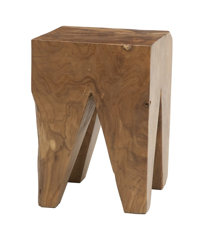 Square Teak Accent Stool