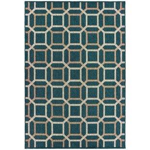 Berryville Tile Work Blue/Gray Indoor/Outdoor Area Rug