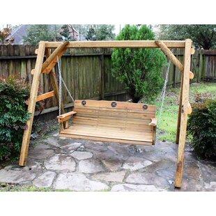 Ironwood Texas Star Porch Swing