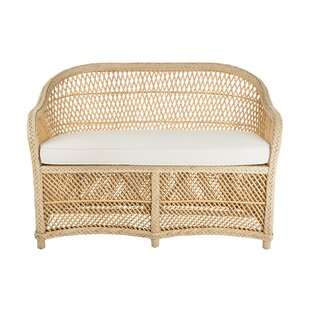 Grand Ridge Rattan Two-Seater Loveseat With Armrest by Rosecliff Heights Best Design
