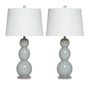 Lilac Glass Table Lamp (Set of 2)