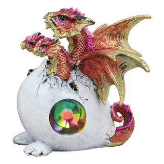Design Toscano Whittingford The Chagrined Sitting Dragon Sculpture Reviews Wayfair