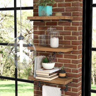 Borrero Industrial Pipe Accent Wall Shelf