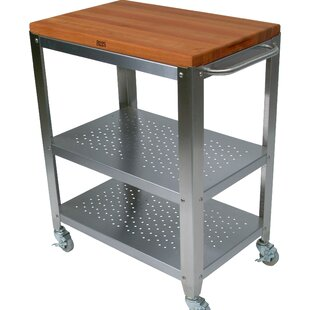 Cucina Americana Kitchen Cart with Solid Wood Top