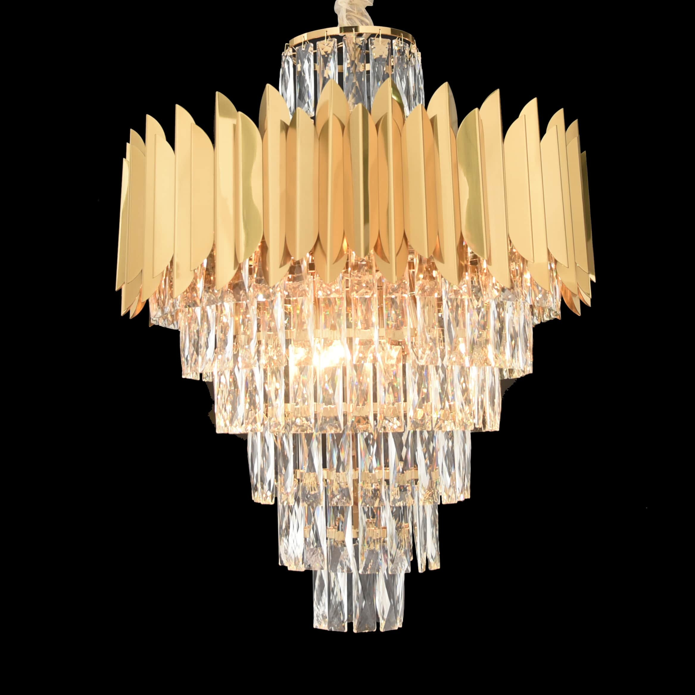 Everly Quinn Shimizu 8 Light Unique Statement Tiered Chandelier With Crystal Accents Wayfair