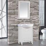 Pehrson 24 Single Sink Bathroom Vanity Set with Mirror by Orren Ellis