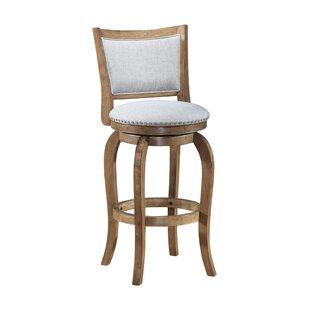 Enjoyable Prevost Wooden Swivel Bar Stool Bralicious Painted Fabric Chair Ideas Braliciousco
