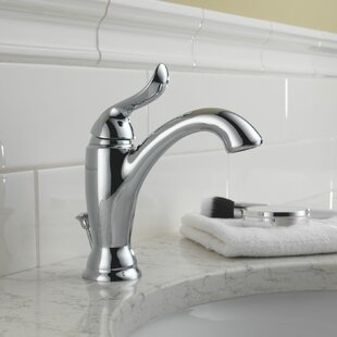 Delta Linden Single Bathroom Faucet with Drain Assembly and Diamond Seal Technology