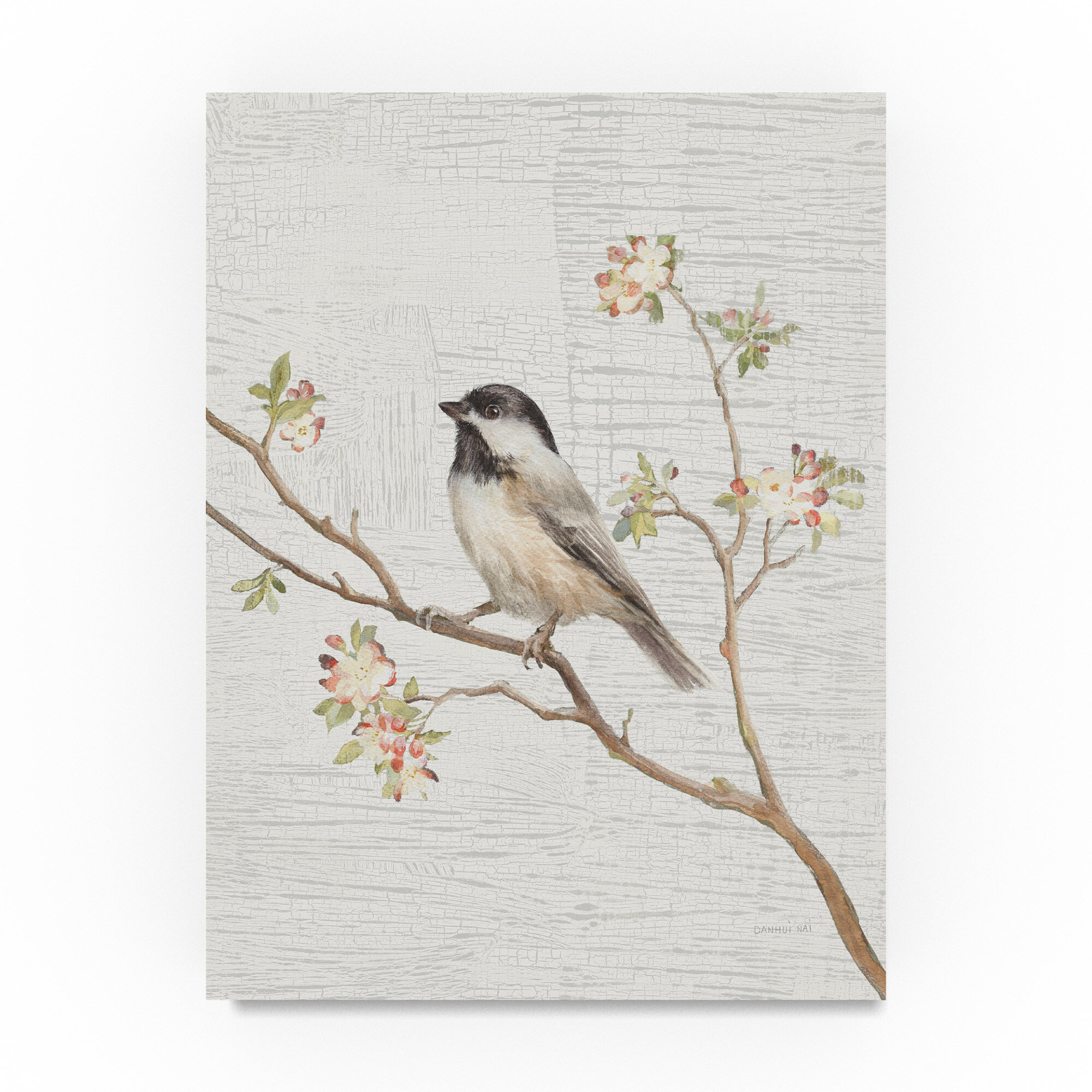 Gracie Oaks Black Capped Chickadee Vintage Acrylic Painting Print On Wrapped Canvas Reviews Wayfair