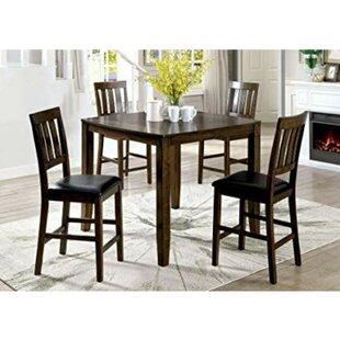 Pisano 5 Piece Pub Table Set by Charlton Home Modern