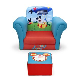 Find the perfect Mickey Mouse Upholstered Kids Club Chair and Ottoman ByDelta Children