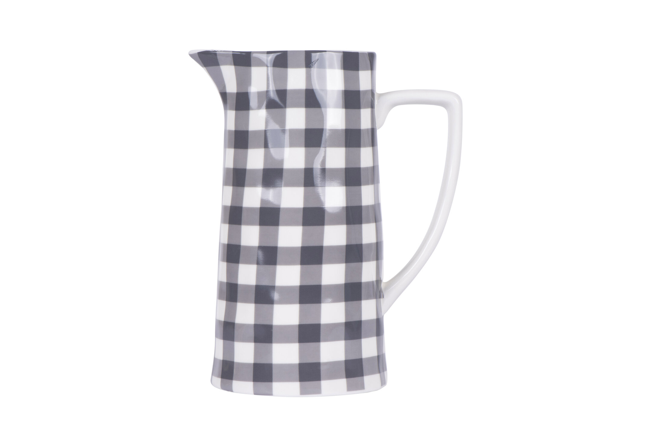 Gracie Oaks Mapleview Gingham Stoneware 64 Oz Pitcher Reviews Wayfair