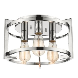 Breakwater Bay Egan 3-Light Flush Mount