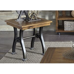 Komi Slat Drawer End Table by Gracie Oaks