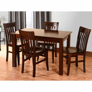 Kennerson 5 Piece Solid Wood Dining Set Alcott Hill
