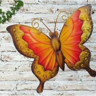 Butterfly Glass Wall Décor By East Urban Home