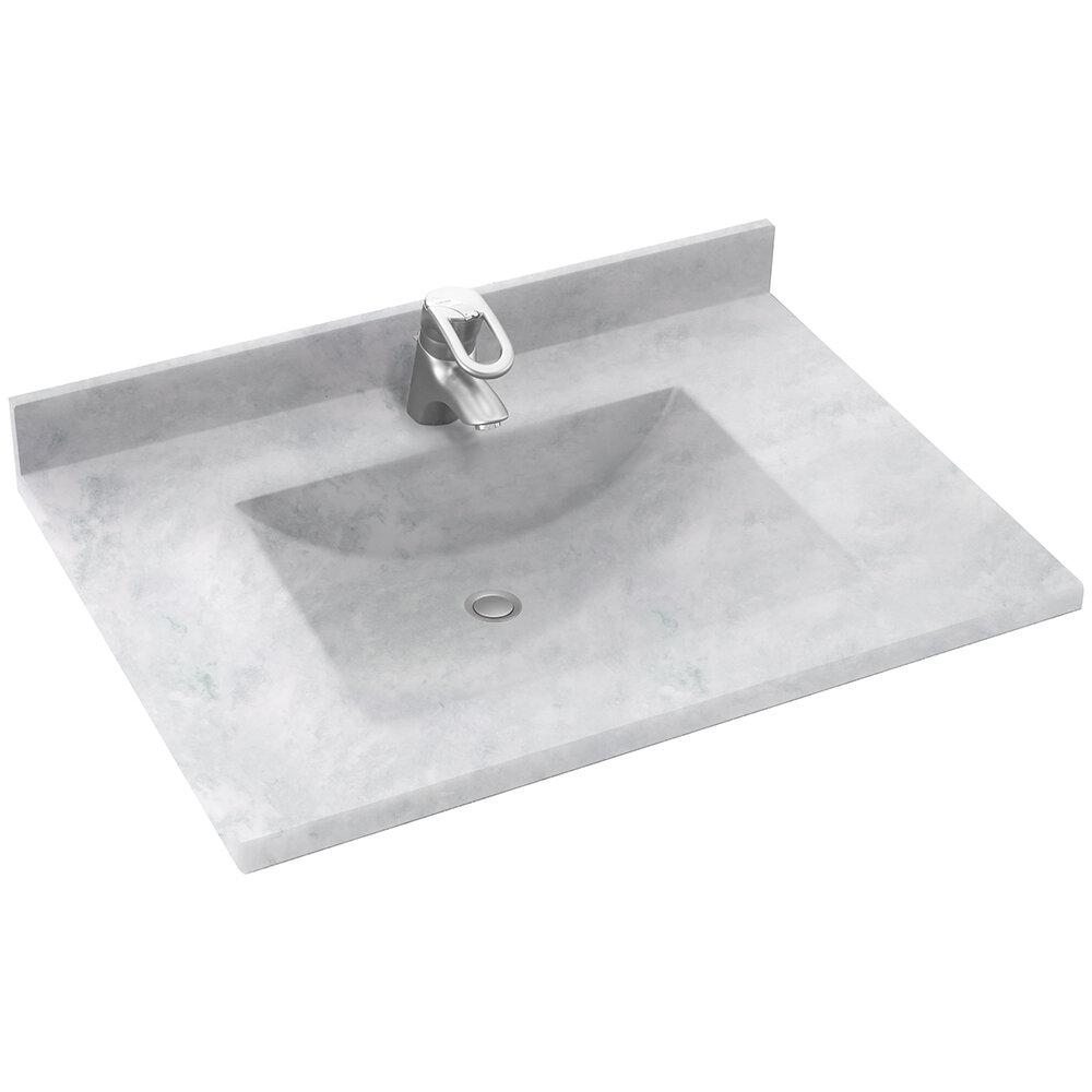Swan Surfaces Contour 37 Single Bathroom Vanity Top With Sink Reviews Wayfair