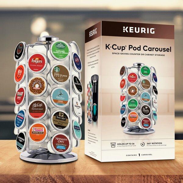 Coffee Pod Holder Carousel Keurig K-Cup 27 Cup Storage Chrome EGG HOLDER