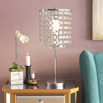 House Of Hampton Northwood Crystal Inspired 19 Table Lamp