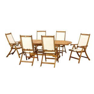 Cram 6 Seater Dining Set By Beachcrest Home