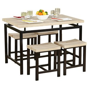 Bryson 5 Piece Dining Set by Varick Gallery