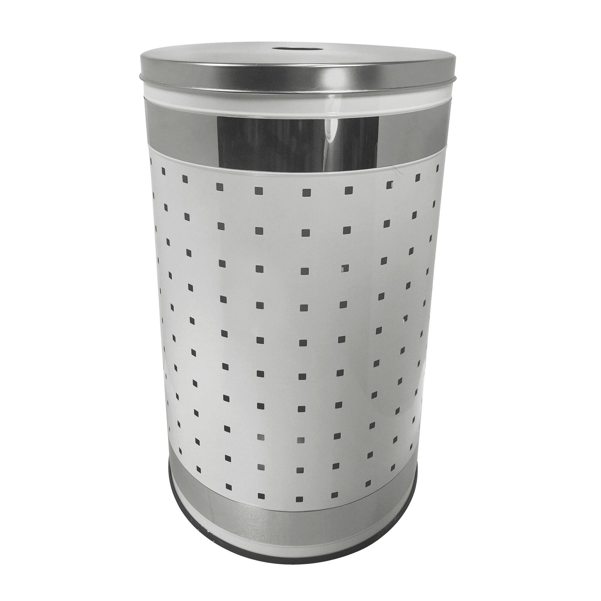 Orren Ellis Ventilated Stainless Steel Laundry Hamper And Clothes Basket Wayfair