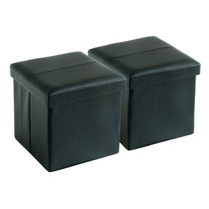 Mannox Folding Storage Ottoman (Set of 2) by Andover Mills