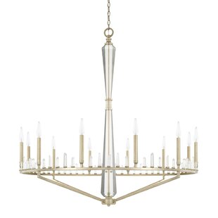 Everly Quinn Haltwhistle 12-Light Candle-Style Chandelier