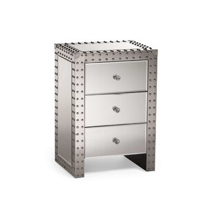 Waters 3 Drawer Nightstand by House of Hampton