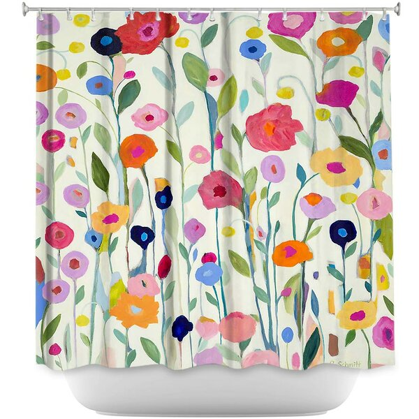 DiaNocheDesigns Gentle Soul Flowers Shower Curtain & Reviews | Wayfair