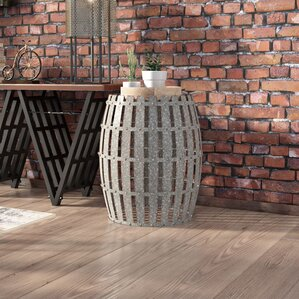 Gibbs Wood and Metal Barrel End Table by Trent Austin Design