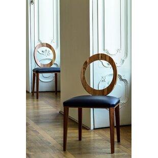 YumanMod Geraldine Side Chair in Navy Blue Genuine Leather