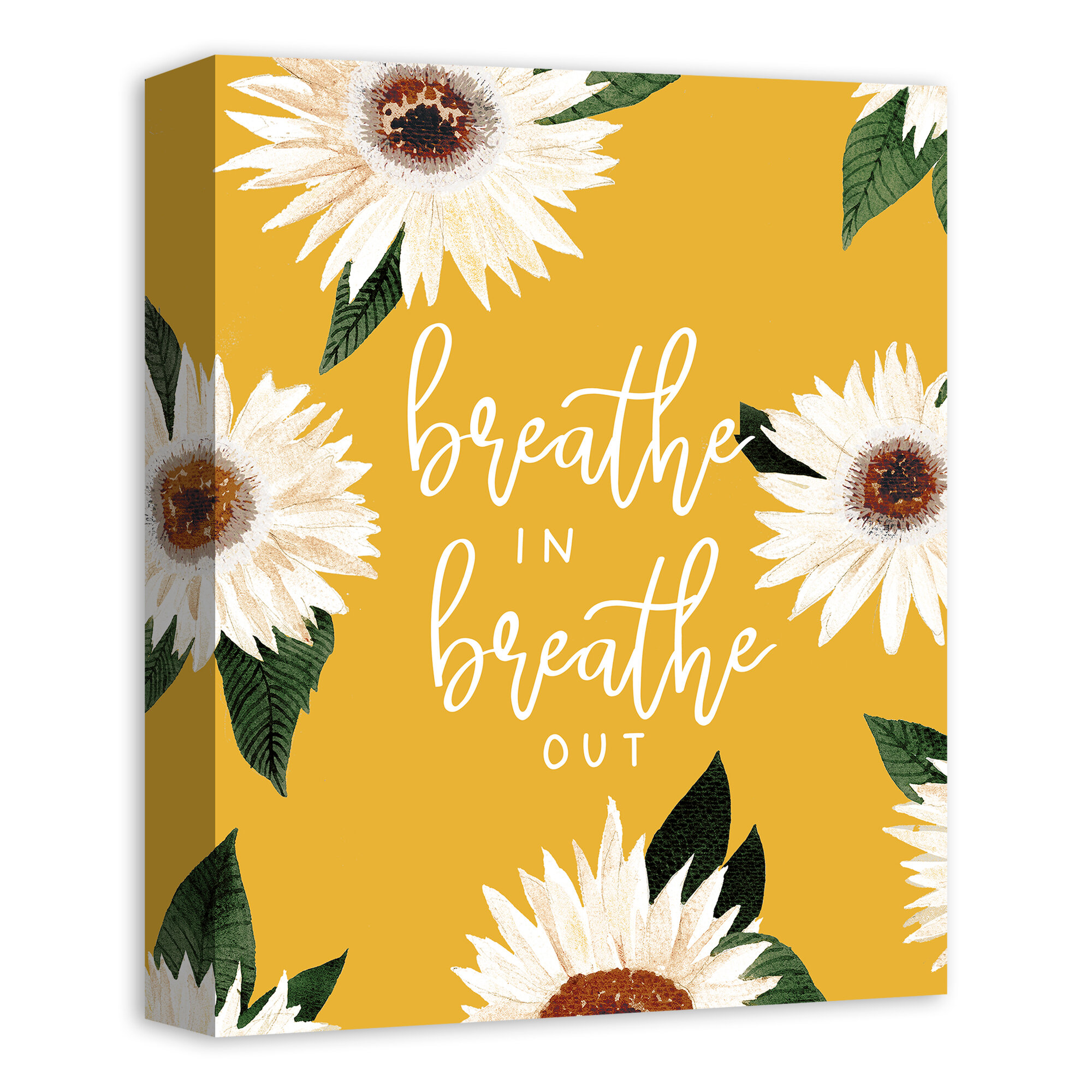 Red Barrel Studio Breathe In Breathe Out Textual Art Print On Canvas Wayfair