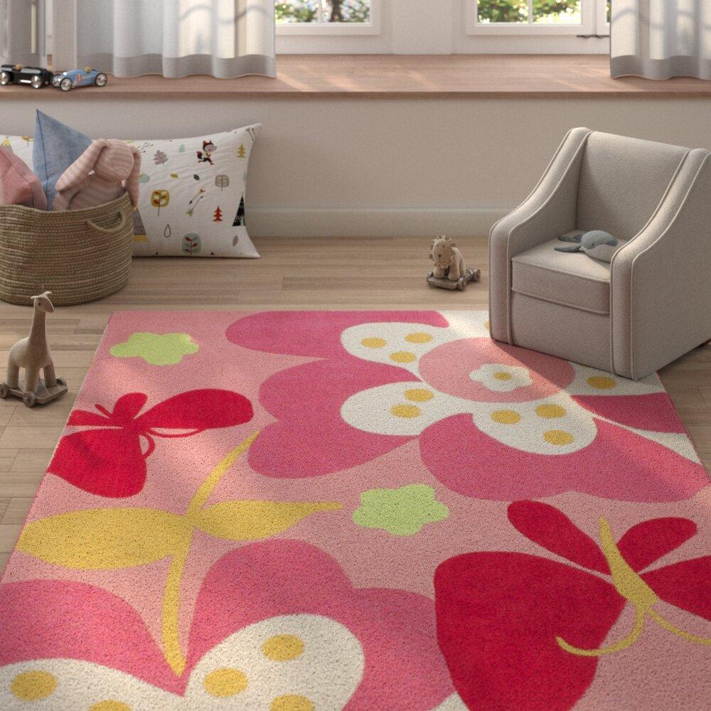Zoomie Kids Roxana Baby Pink Area Rug Reviews Wayfair