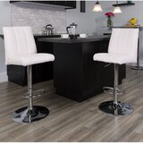 Norma Swivel Adjustable Height Bar Stool (Set of 2) by Wrought Studio™