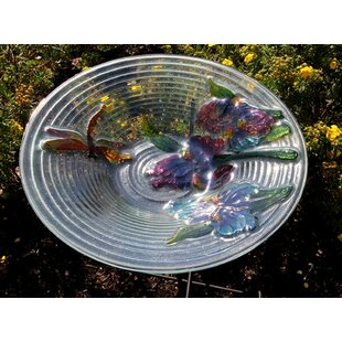 Northlight Seasonal Dragonfly and Flower Spring Garden Birdbath