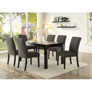Hoeft 7 Piece Solid Wood Dining Set Alcott Hill