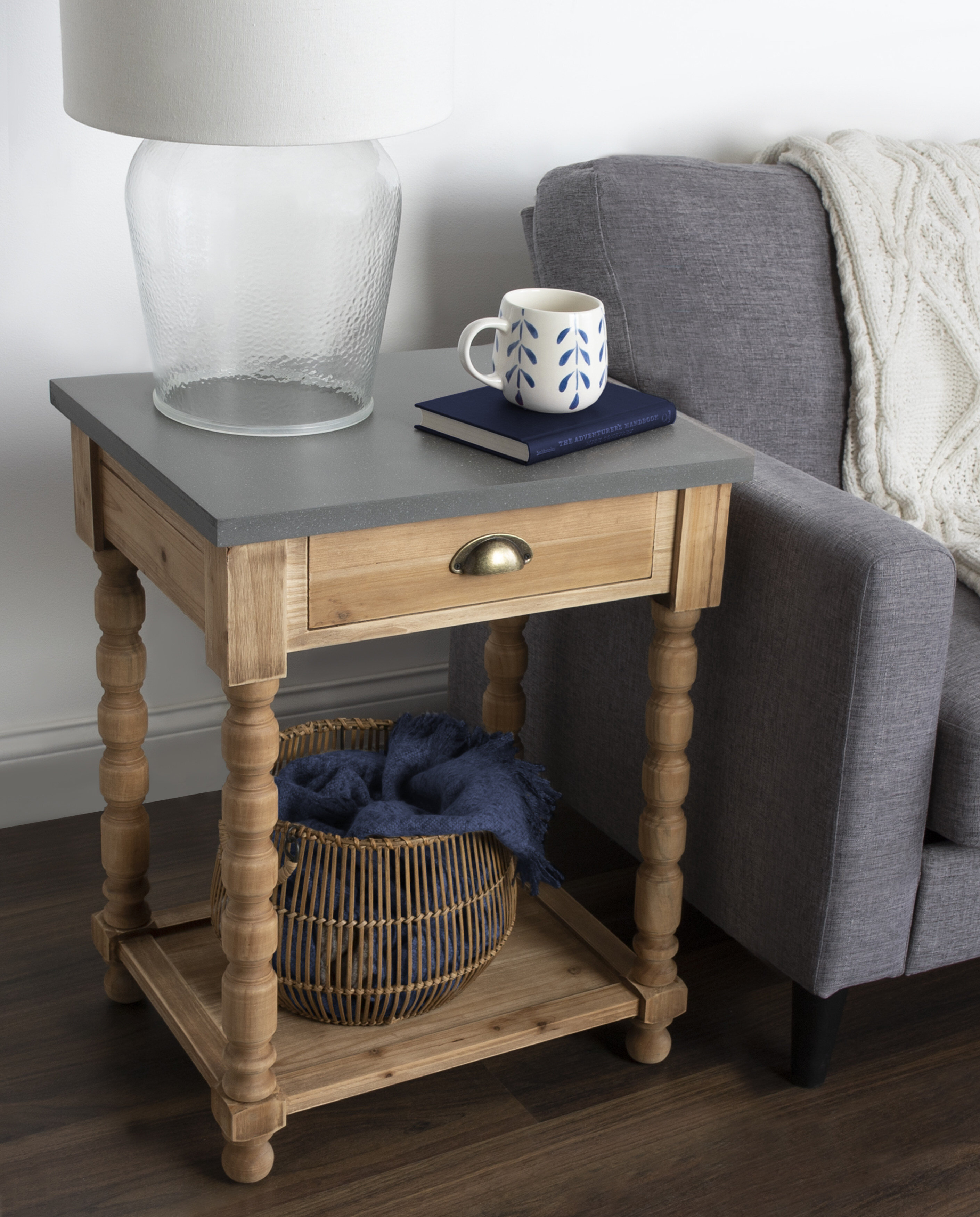 Bungalow Rose Mirac End Table With Storage Wayfair