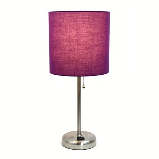 Purple shade table lamps youll love wayfair purple shade table lamps mozeypictures Images