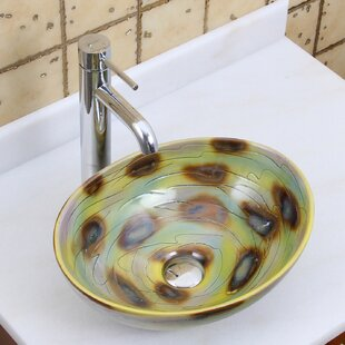 Price comparison Elite Ceramic Oval Vessel Bathroom Sink By Elimaxs